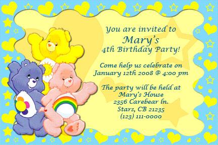 Tarjeta de invitación de cumpleaños ositos cariñosito - Imagui